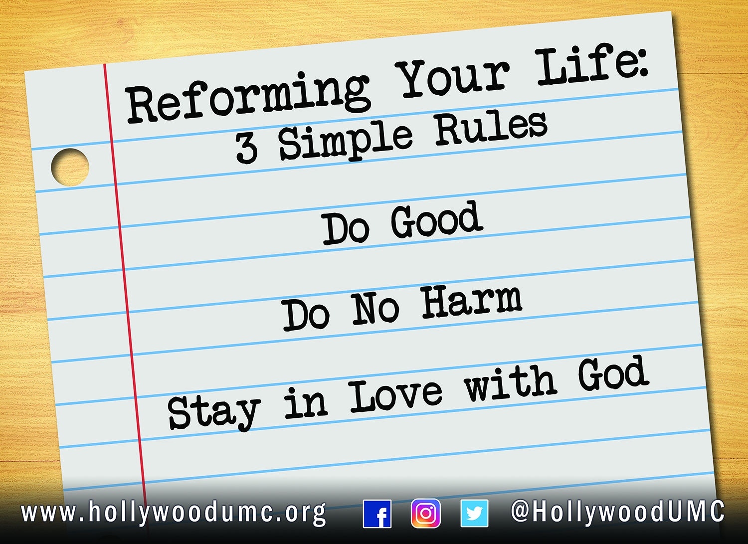 Reforming Your Life, Hwood San Banner (132x96)