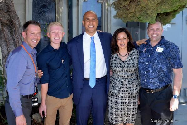 Cory Booker & Kamala Harris Visit HUMC - 10/9/16 photo by Richard Settle