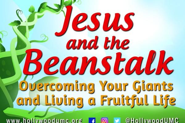 Jesus & Beanstalk Hwood San Banner (132x96)