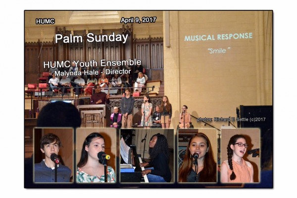 "Palm Sunday April 9th, 2017 - Our new youth ensemble sings ""Smile"""