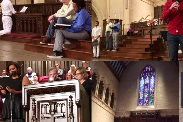 Palm Sunday April 9th, 2017 - Our arts & worship team performing a reader's theatre of the passion