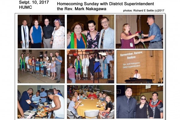 Homecoming Sunday with our District Superintendent Rev. Mark Nakagawa. Richard E Settle, photographer