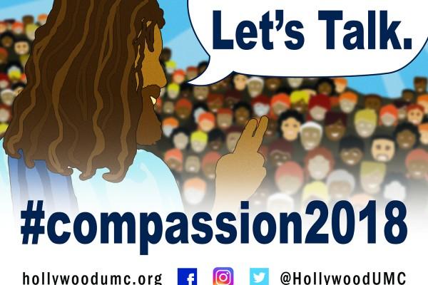 Compassion Jesus San Banner (132x96)