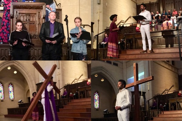 Palm Sunday reading of the Passion by our Arts & Worship Team