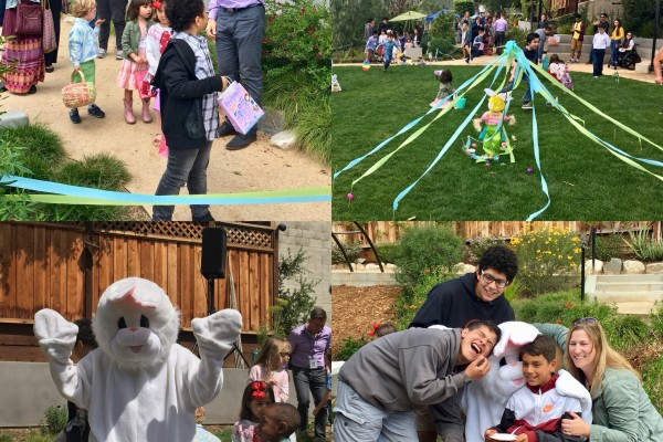 Children's Easter Egg Hunt in our backyard park