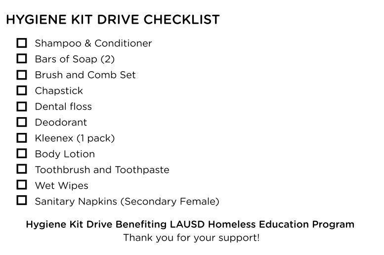 Hygiene-kit-checklist