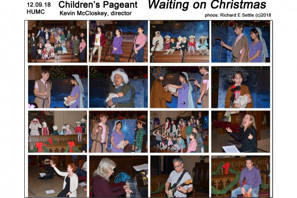 "HUMC Children's Pageant ""Waiting on Christmas"" December 9th, 2018"