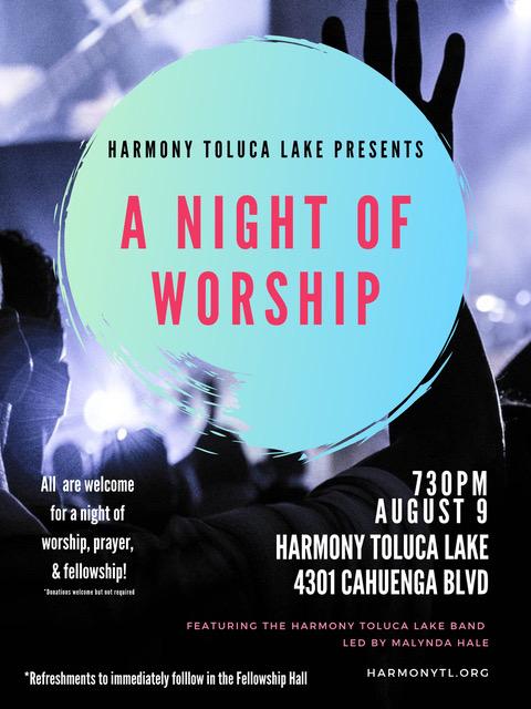 Harmony Toluca Lake Worship Night